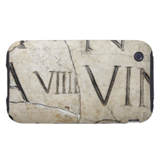 A close-up of ancient Roman letters on marble. iPhone 3 Tough Cases