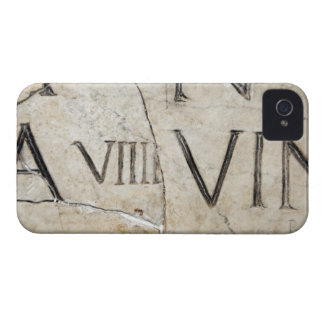 A close-up of ancient Roman letters on marble. iPhone 4 Case