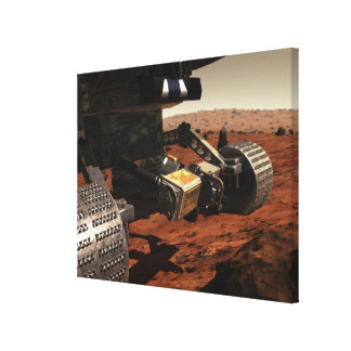 A close-up view of the arm on NASA's Mars Canvas Print