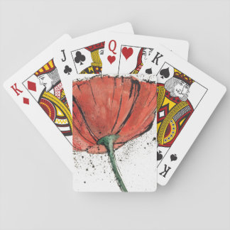 A Closed Flower on a White Background Playing Cards