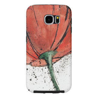 A Closed Flower on a White Background Samsung Galaxy S6 Cases