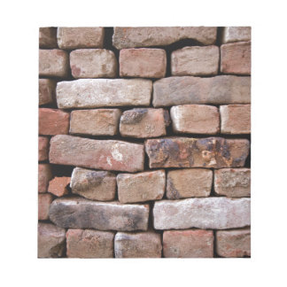 A closer look to a brick wall notepads