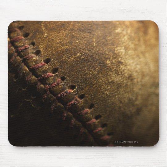 A closeup of an old baseball. Shot with shallow Mouse Mat