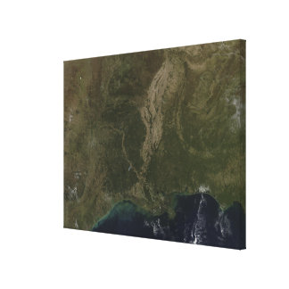 A cloud-free view of the southern United States Canvas Print