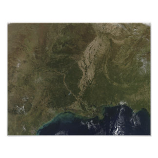 A cloud-free view of the southern United States Photo Print