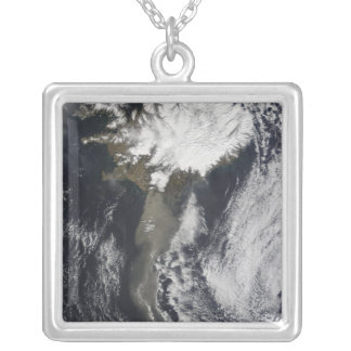 A cloud of ash silver plated necklace