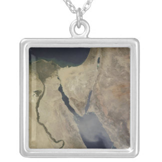 A cloud of tan dust from Saudi Arabia Silver Plated Necklace