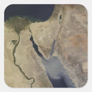 A cloud of tan dust from Saudi Arabia Square Sticker