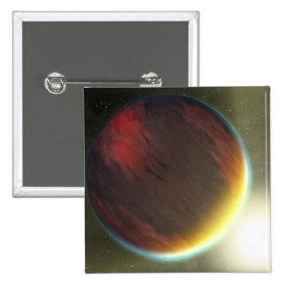 A cloudy Jupiter-like planet that orbits 15 Cm Square Badge