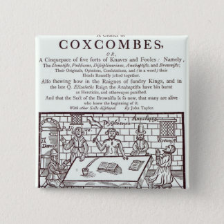 A Cluster of Coxcombes' by John Taylor 15 Cm Square Badge