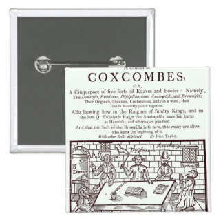 A Cluster of Coxcombes' by John Taylor Buttons