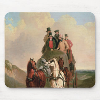 A Coach and Four on an Open Road Mouse Mat