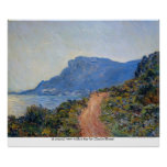 A coastal view with a bay by Claude Monet Poster