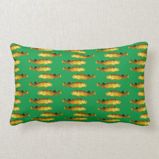 A Cod Fit for a God Adorns Pillows Green