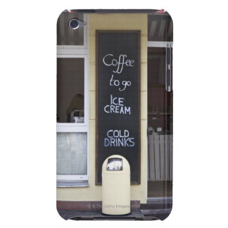 a coffee shop with a coffee to go sign iPod touch cover