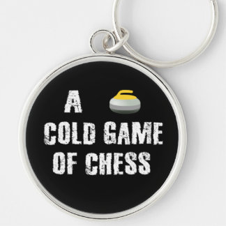 A Cold Game of Chess Curling Keychain
