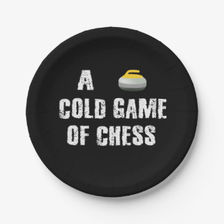 A Cold Game of Chess Curling Paper Plate