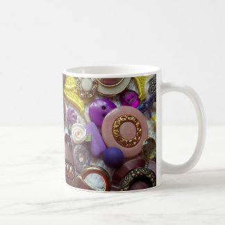 A Collage of Pretty Purple Buttons Mugs