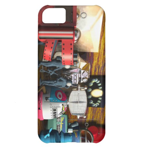 A Collection of 3D Vintage Space Toys Case For iPhone 5C