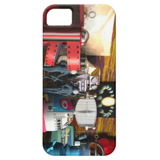 A Collection of 3D Vintage Space Toys iPhone 5 Cover