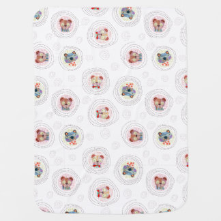 A collection of cute hand painted adorable animal baby blanket