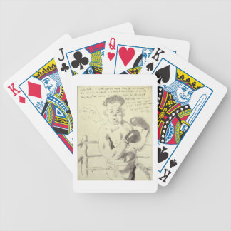 A Collection of Eight Illustrated Letters to his F Bicycle Playing Cards