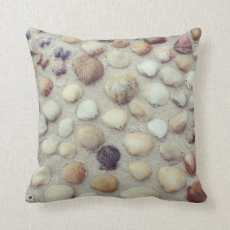 A Collection Of Seashells Throw Pillow