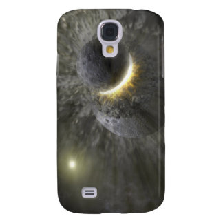 A collision between massive objects in space galaxy s4 case