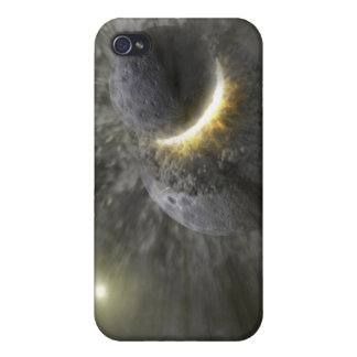 A collision between massive objects in space iPhone 4/4S cover