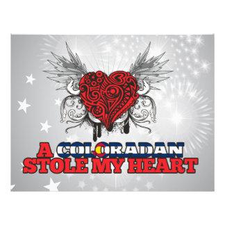 A Coloradan Stole my Heart Flyer Design
