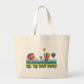 A colorful balloon flying gift - hot Air Balloons Large Tote Bag
