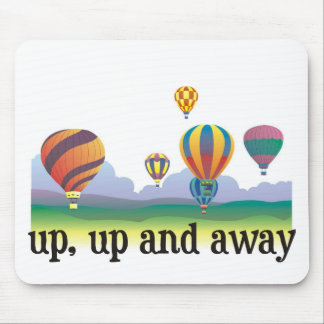 A colorful balloon flying gift - hot Air Balloons Mouse Pad