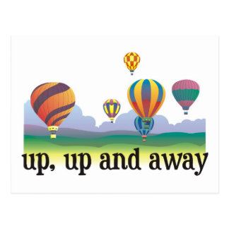 A colorful balloon flying gift - hot Air Balloons Post Card