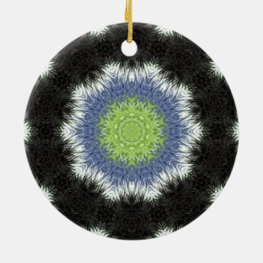 A colorful furry brush pattern ornaments