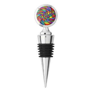 A Colorful Pinwheel Wine Stopper