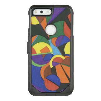 A colourful abstract design OtterBox commuter google pixel case