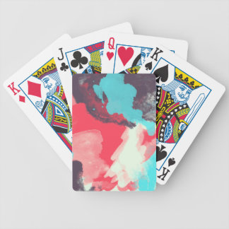 A colourful bicycle playing cards