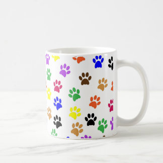 A Colourful cats traces - cats paws Coffee/ Tea Coffee Mug