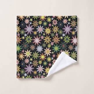 A colourful flower pattern wash cloth