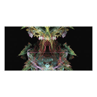 a-colourful-fractal personalised photo card