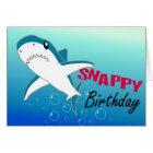 A Colourful Shark Fun Happy Birthday Card
