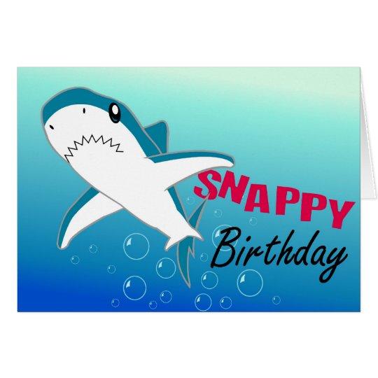 A colourful shark fun happy birthday card zazzle a colourful shark fun happy birthday card bookmarktalkfo Gallery