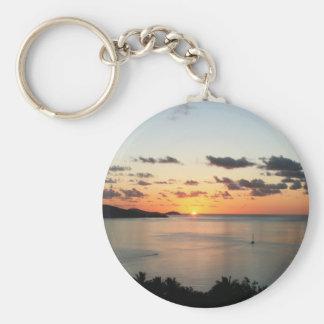 A colourful sunset over Australia's Whitsundays. Key Chains