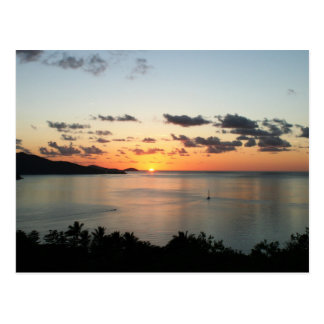 A colourful sunset over Australia's Whitsundays. Postcard