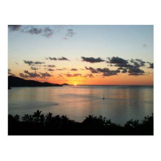 A colourful sunset over Australia's Whitsundays. Postcard