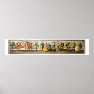 A Commedia Dell Arte Troupe Before a Renaissance T Posters