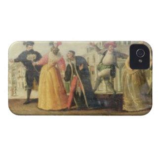 A Commedia Dell'Arte Troupe Before a Renaissance T Case-Mate iPhone 4 Cases