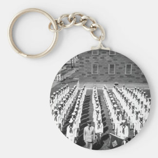 A Company of Negro recruits which_War image Basic Round Button Key Ring