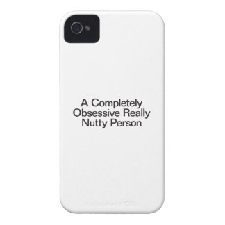 a completely obsessive really nutty person iPhone 4 Case-Mate cases