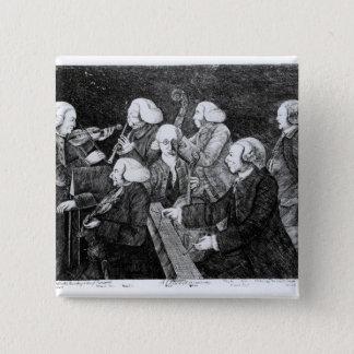 A Concert at Cambridge, 1770 15 Cm Square Badge